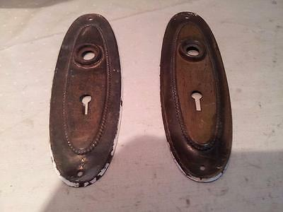 Pair Of Victorian Oval Escutcheon Plates