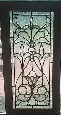 Victorian stained glass clear textured glass window