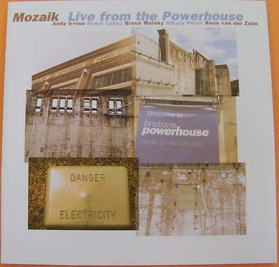 Mozaik Live From The Powerhouse Celtic Irish Signed Autographed Music Cd
