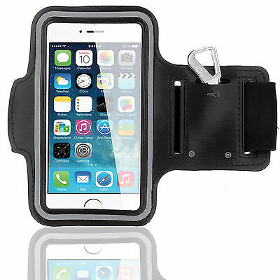 Sports Running Workout Gym Armband Arm Band Case Cover iPhone 6 6S PLUS Black