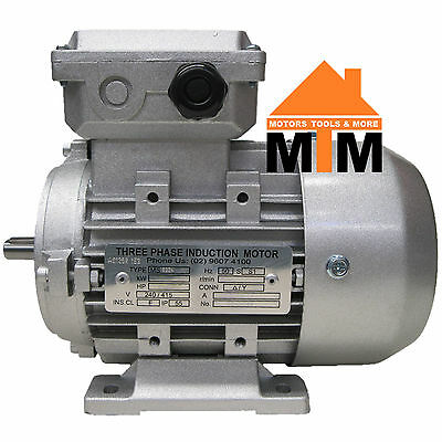 Three Phase Electric Motor 415V 0.72 kW 1 HP 1400rpm 4 Pole