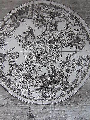MALLET: Engraving Celestial Map Constellations Stars III - 1685