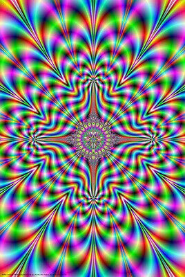 FRACTAL VISUAL ILLUSION POSTER (61x91cm) PSYCHEDELIC LSD ART NEW