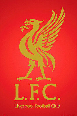 (LAMINATED) LIVERPOOL LFC LOGO POSTER (61x91cm)  PICTURE PRINT NEW ART