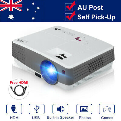 4000lm Multimedia Home Cinema LED Projector HD Video HDMI USB VGA HD TV AU stock