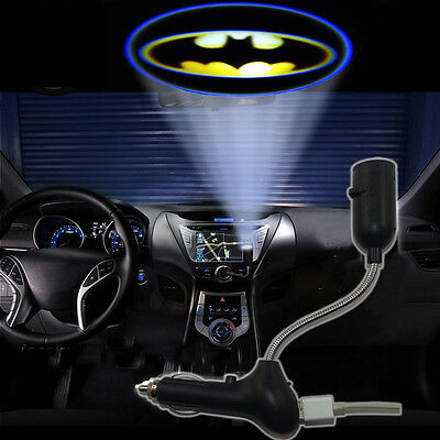 Batman Emblem Auto USB Interface Charger Roof Light Projector Projection Light