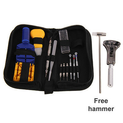 Watch Repair Tool Kit Case Opener Link Remover Spring Bar Tool - Carrying Case#V