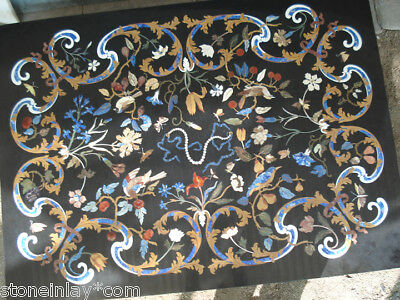 Grand Royal Marble Inlay Pietra Dura Florentine Italian Table Top Antique Rare