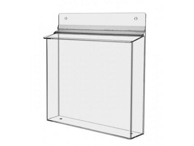 """Large Brochure Holder Display Wall Mount Catalogs, Menu or Documents 11"""" X 8.5"""""""