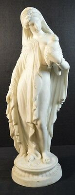 Antique Neo-Classical Parian Maiden Figurine - As is