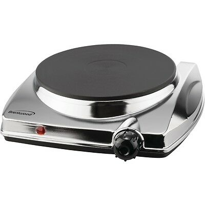 NEW Brentwood Ts-337 Electric Single Hotplate With Chrome Finish