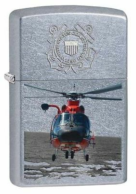 Zippo Windproof U.S. Coast Guard Lighter With Helicopter, 28900, New In Box