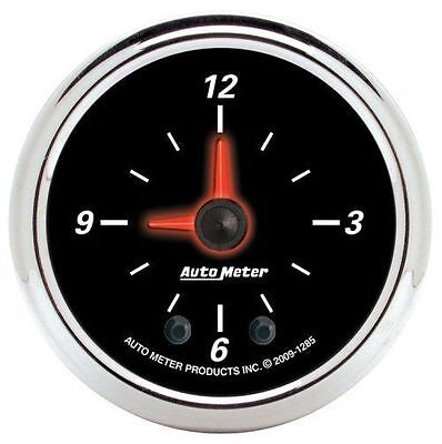 "Autometer Designer Black Ii 2-1/16"" Electric Clock Quartz Movement Au1285"