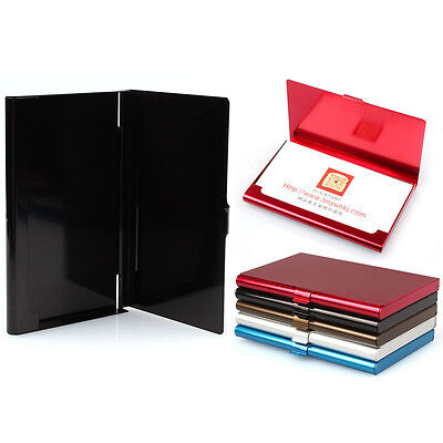 Fashion Creative Aluminum Holder Metal Box Cover Credit Business Card Wallet HOT