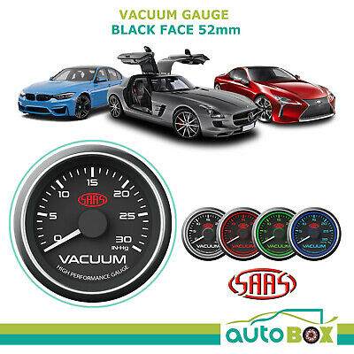 Saas Vacuum  52Mm Gauge Black Face 4 Colours