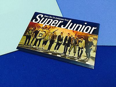 SM Super Junior Offical Fanclub ELF card, 7th anniversary party message card