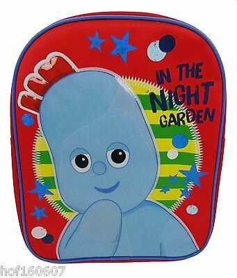 In The Night Garden Iggle Piggle Character Backpack School Nursery Bag Free P&P
