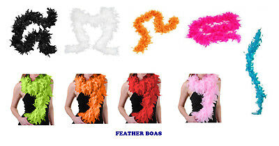 Fancy Dress Feather Boa Hollywood Hogan Flapper 1920's 30's Party Costume Prop
