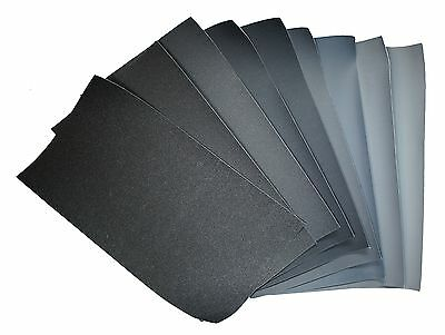 9x Micro Finishing Cloth 1500-12000, size 18x9cm, fountain pen mesh Polierleinen