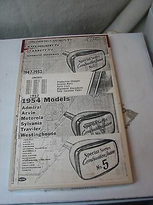 LOT OF 3 WALLACE'S TELAIDES VINTAGE TV SCHEMATIC BOOKS