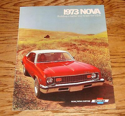 1973 Chevrolet Nova Sales Brochure 73 Chevy