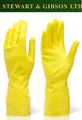 Yellow Marigold Bathroom Cleaning Gloves Choice of Sizes M