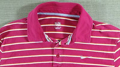 Men's Nike Team Authentic Polo Button Shirt Red Yellow Athletic Size XL