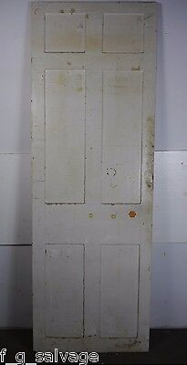 "Antique Vintage 6 Panel Interior Door 84-1/2"" X 29-3/8"" (HH6) Local Pickup"