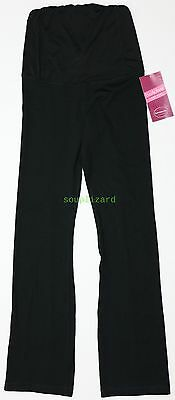 NWT Women's Maternity Long Pants Fitness BeMaternity Isabel Black Size XS S