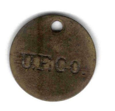 United Fruit Co, Kingston Jamaica Tally Token,rulau #43