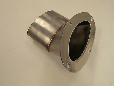 """Stainless Steel Oval Shaped Angled (30°) Exhaust Tip Port ( 5 3/8"""") Marine Boat"""