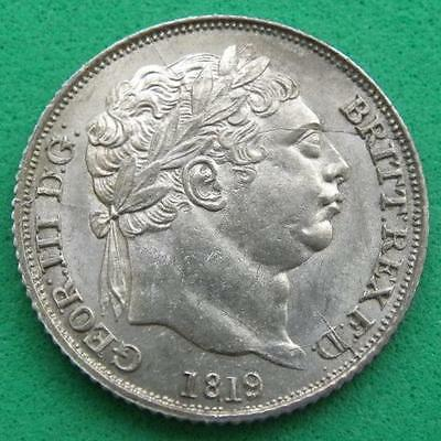 1819 - George 111 - Silver Sixpence - UNC - SN8766