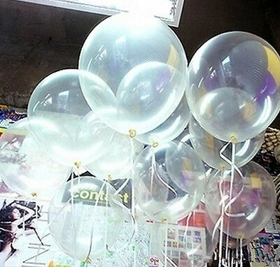100× Hot Transparent Clear Balloons For Birthday Party Festival Decoration 10""