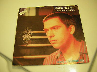 Peter Gabriel 45 Lp Promo Copy Lead A Normal Life Picture Sleeve 1980 Genesis