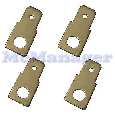 6.3mm Straight  Male Spade Terminal PCB Screw Mount Connector