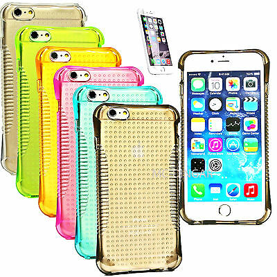Soft Slim Rubber Transparent Clear Hand GRIP Bumper Case Cover For iPhone 6 plus