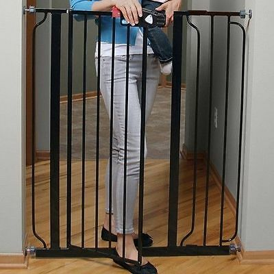 Superior Baby Gates For Stairs Hardware Mounted Top With Swing Door Extra Tall Pet  Child