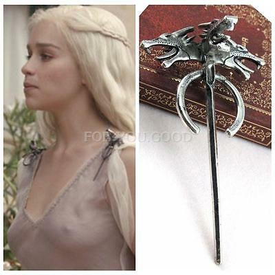Hot Sale Game of Thrones Daenerys's Dragon Brooch Pin Movie Jewelry