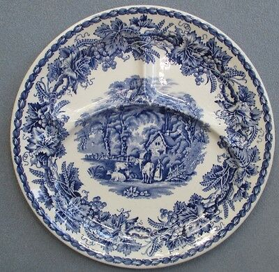 Booths Blue Transferware British Scenery Grill Plate