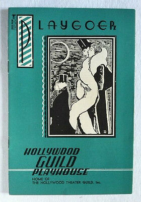 1935 Playgoer Hollywood Guild Playhouse Theatre Program