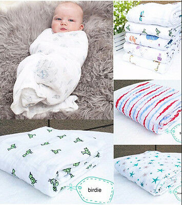 47 * 47 '' Aden Anais Blankets Baby Infant SwaddleMe 100% Cotton Towel Drawers
