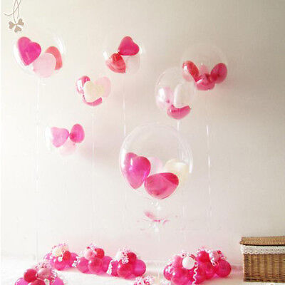 """Lots 100pcs Transparent Clear Balloons For Birthday Party Wedding Decor 10"""""""