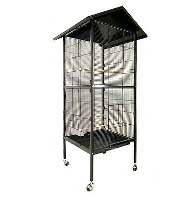Brand New 168cm Large Pet Bird Cage Budgie Aviary Metal Weatherproof On Wheels