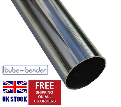 "50.8mm OD (2"") 500mm 304 Stainless Steel Exhaust Round Tube / Pipe 1.5mm Wall"