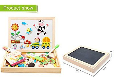 Kids Magnetic Wooden Writing Tabletop Learning Board Toddler Sketchpad Toys for