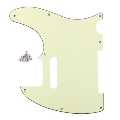 3Ply Vintage Tele Style Guitar Pick Guard Mint Green Fits Telecaster Guitar
