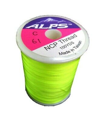 Alps 100yds of Lumin Green Rod Wrapping Thread - Size C (0.2mm) Rod Binding Cott