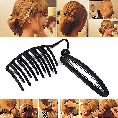 New Black Women Elegant French Hair Twist Maker Clip Updo Styling Tool