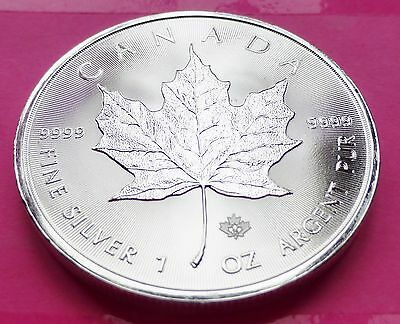 2014  CANADA  MAPLE LEAF $5 FIVE DOLLAR  SILVER 1oz  COIN