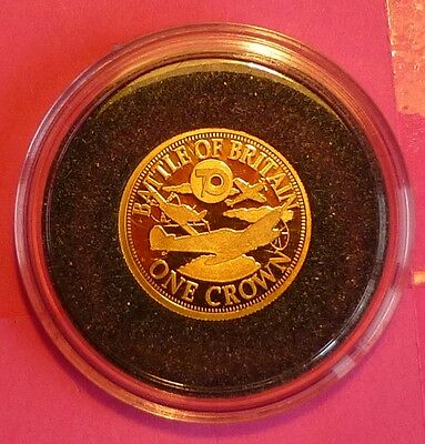 2010 Tdc Battle Of Britain 70Th Ann.  One Crown  24 Ct Gold Proof Coin  And Coa